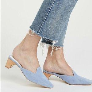 Size 10 Jeffrey Campbell JENAE Lo-Heel Mules blue